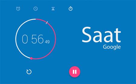 google-android-saat-uygulamasi